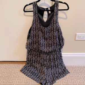 Black and gray romper from target